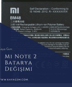 Xiaomi Mi Note 2 Batarya Değişimi