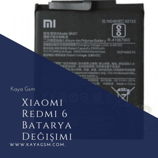 Xiaomi Redmi 6 Batarya Değişimi