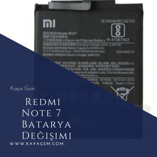 Redmi Note 7 Batarya Değişimi