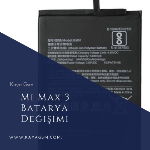 Mi Max 3 Batarya Değişimi