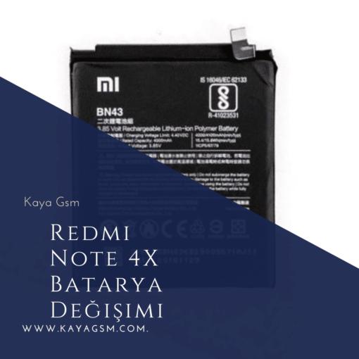 Redmi Note 4X Batarya Değişimi