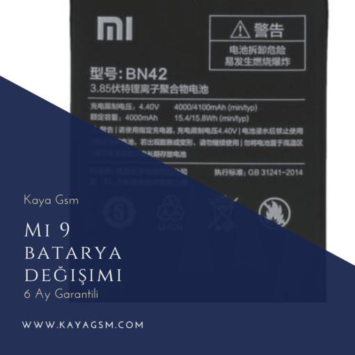 Xiaomi Mi 9 batarya değişimi