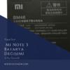 Xiaomi Mi Note 3 Batarya Değişimi