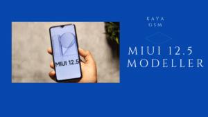 MIUI 12.5 Destekleyecek Modeller